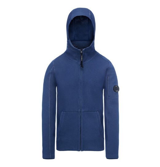 TUBOLAR FLEECE LENS ZIP HOODED SWEATSHIRT