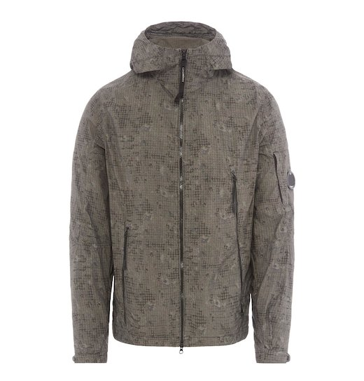 50 FILI GD CAMO PRINT LENS FULL ZIP HOODED JACKET