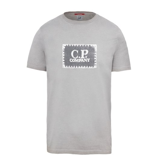 RE-COLOUR C.P. LABEL JERSEY SS T SHIRT