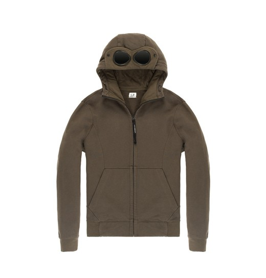 HEAVYWEIGHT COTTON FLEECE GOGGLE ZIP HOODIE