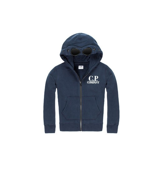 COTTON FLEECE HOODED ZIP SWEATSHIRT