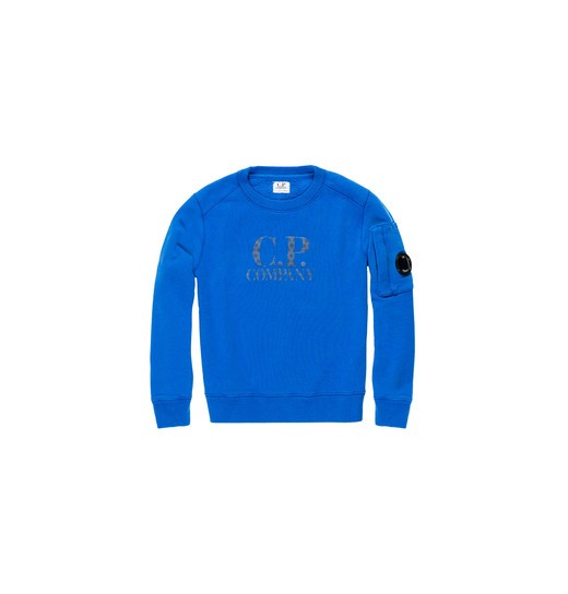 COTTON FLEECE LENS CREWNECK