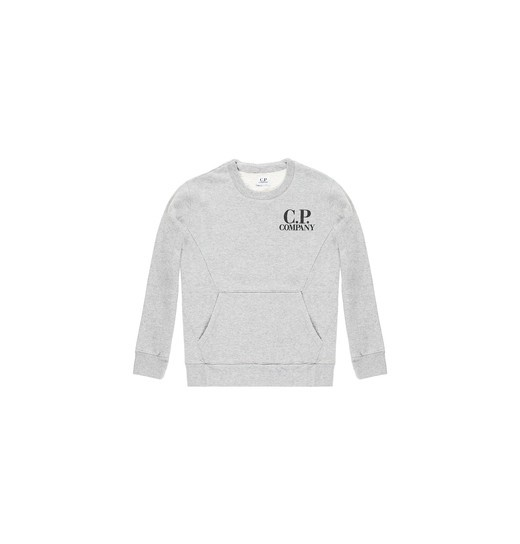 TWO POCKET COTTON FLEECE CREWNECK