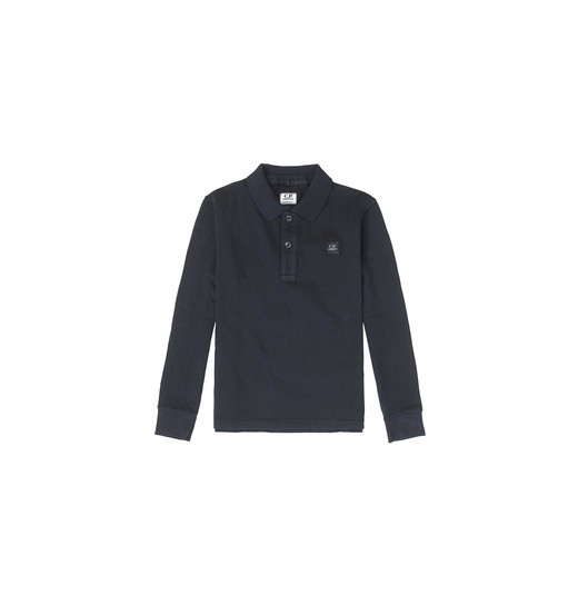GARMENT DYED LONG SLEEVE POLO SHIRT