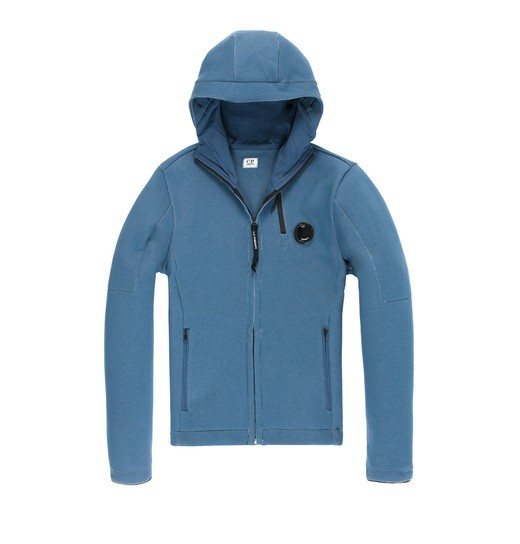 FELPA DOPPIA HOODED ZIP SWEATSHIRT