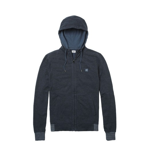 FELPA MELANGE GD HOODED ZIP SWEATSHIRT