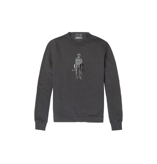 HEAVYWEIGHT COTTON FLEECE SAILOR CREWNECK