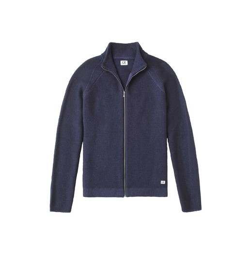 FAST DYED FULL ZIP MERINO WOOL KNIT