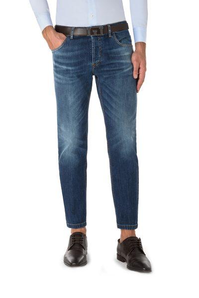 Dark blue short five pockets jeans