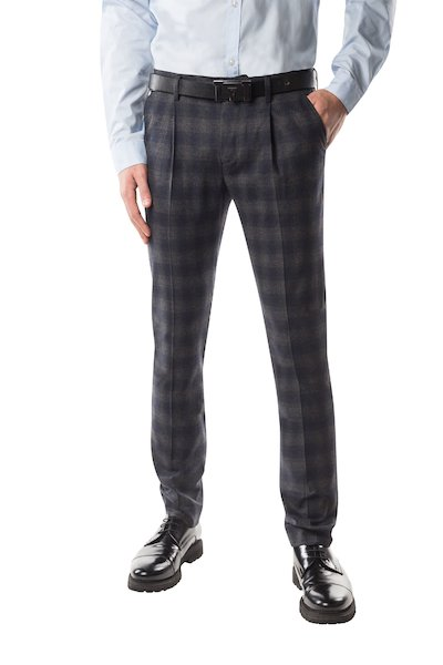 Long wool trouser with pences and American pockets