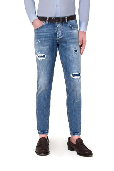Short 5-pocket jeans with rips