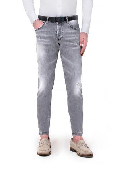 Short grey 5-pocket jeans