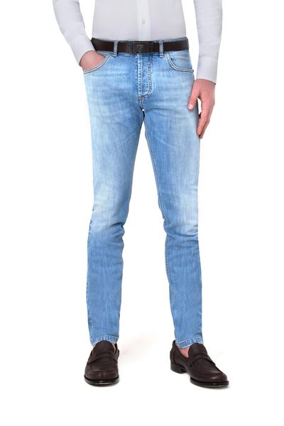 Long light 5-pocket jeans