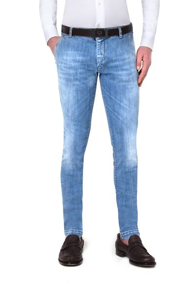 Long light American pocket jeans