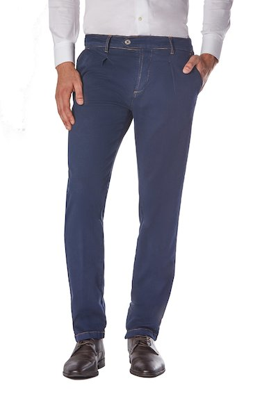 American pocket long cotton trousers with back flaps