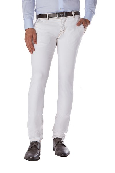 American pocket long cotton trousers with patch