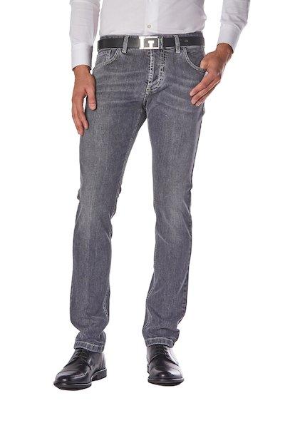 Five-pocket long basic jeans