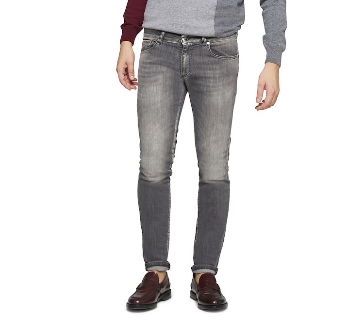 Skinny cotton jeans fit