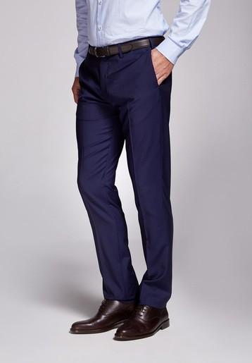 Pantalón lana medium azul