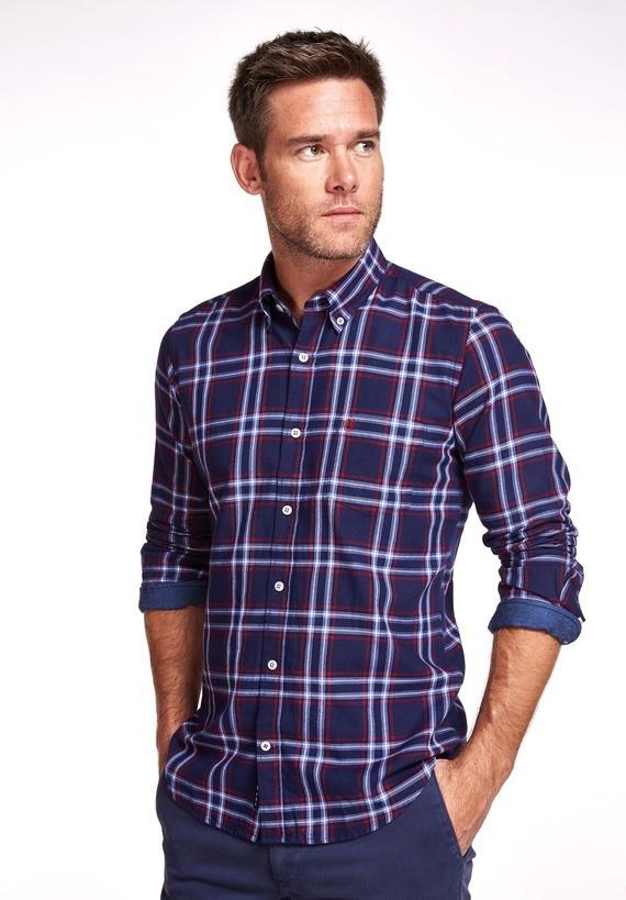 Camisa algodón franela denim
