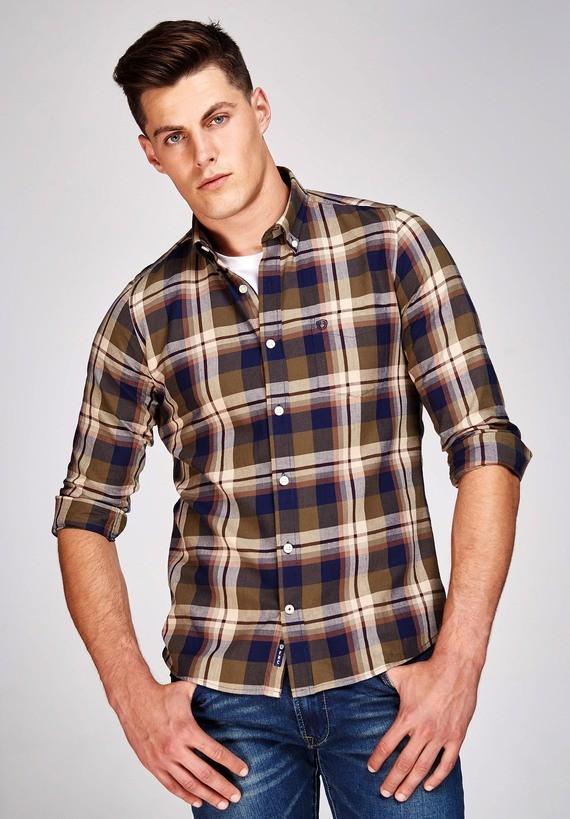 Camisa algodón franela