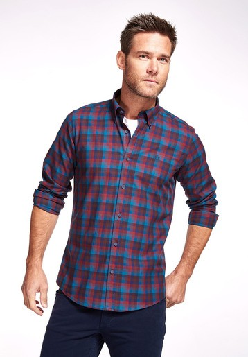 Camisa algodón multicolor regular