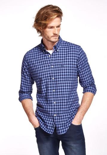 Camisa algodón franela bicolor