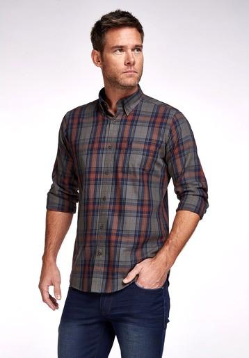 Camisa algodón suave regular