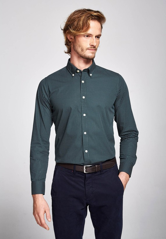 Camisa  fantasía estampada regular