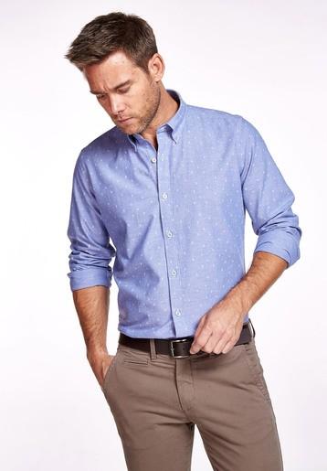 Camisa algodón fantasía slim
