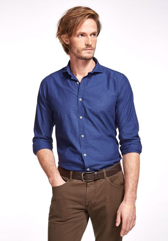 Camisa tejana Cutaway slim