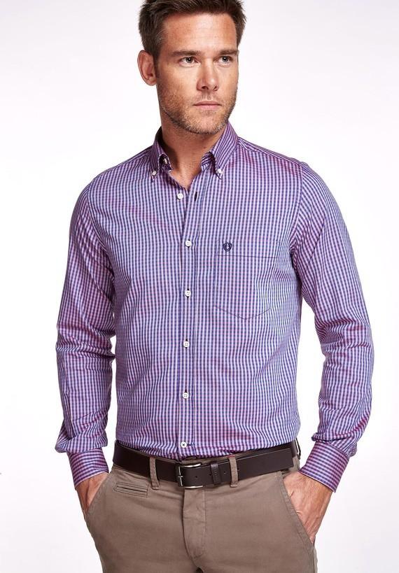 Camisa oxford tricolor regular