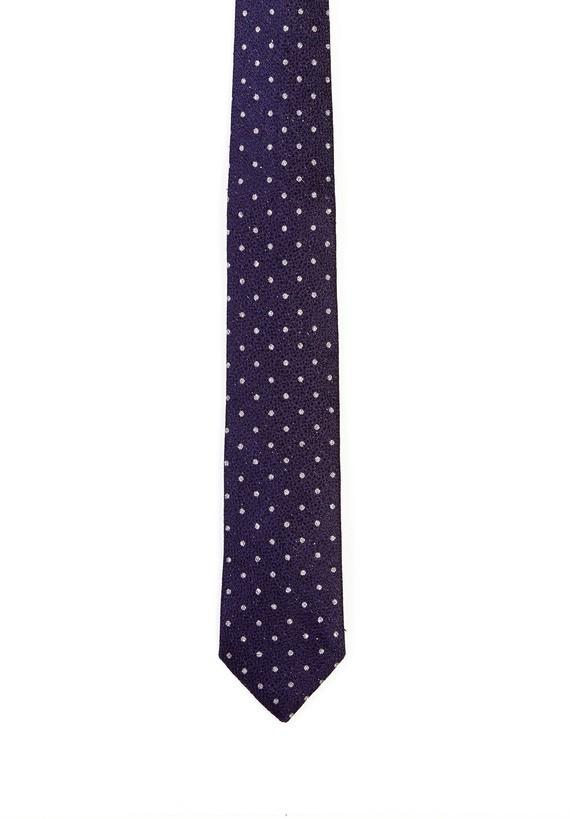 Corbata seda bicolor de círculos