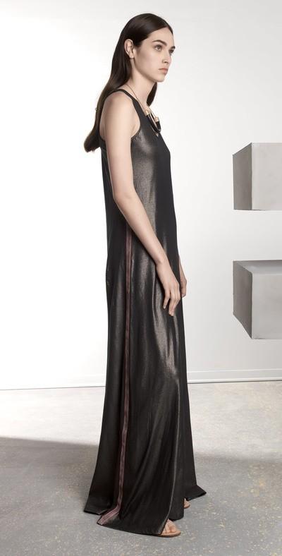 Long bronze dress
