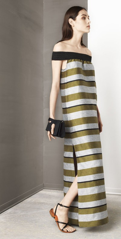 Stripes long gown