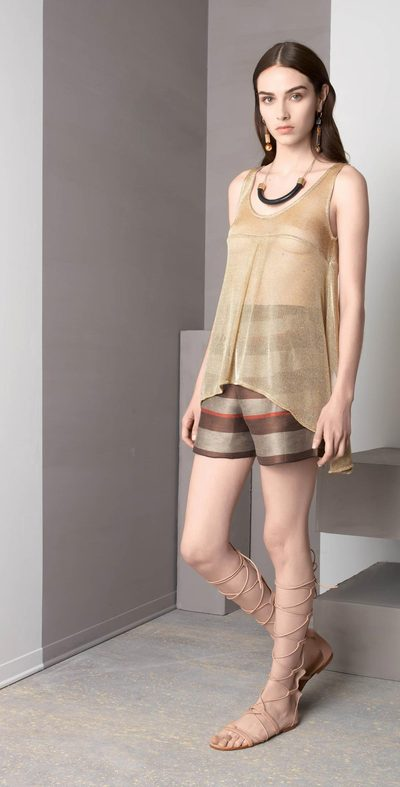 Gold tank top with tips