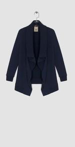 Giacca blu con zip