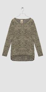 Olive melange sweater