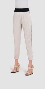 Pantalone beige con bande laterali