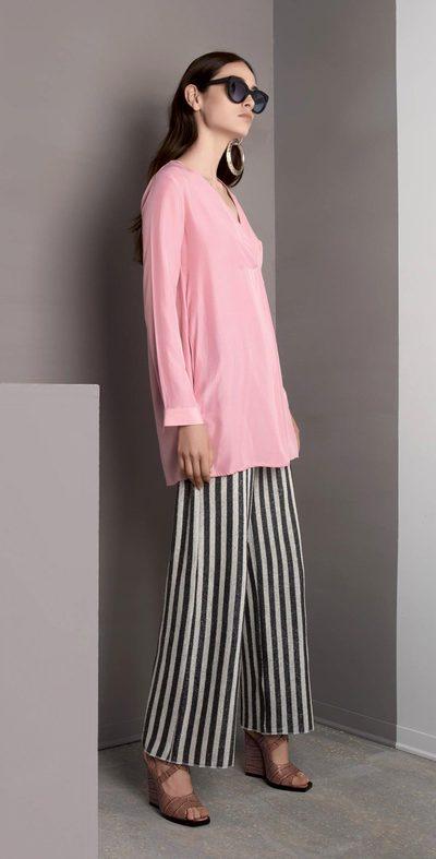Silver striped pants