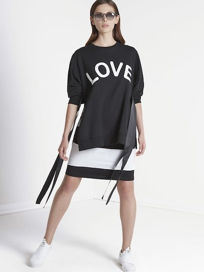 Cotton sweatshirt with lettering
