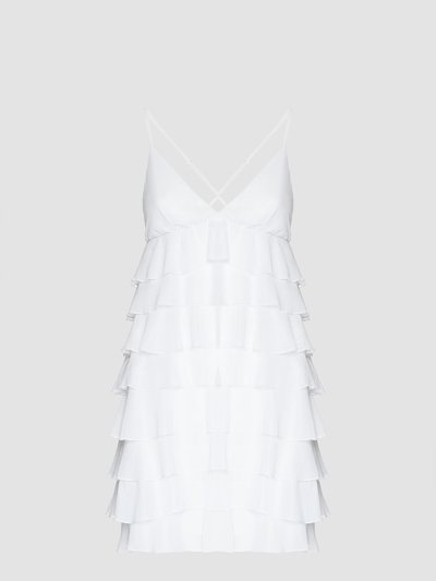 Short dress with rouches