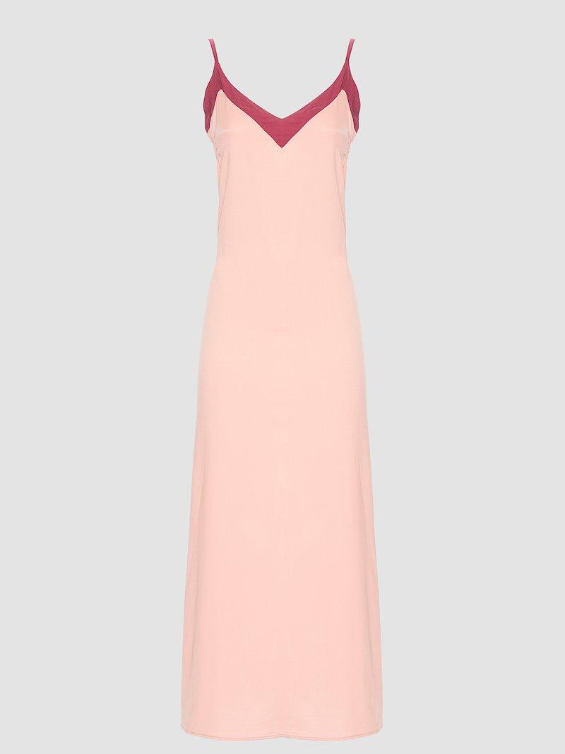 Long silk dress