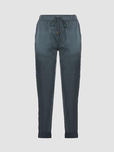 Pantaloni con risvolto sul fondo