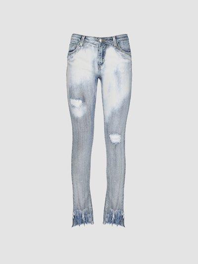 Jeans skinny con lamina