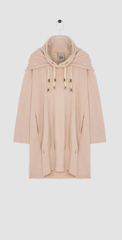 Short dress with hood