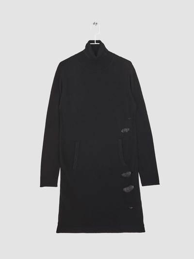 Knit black dress