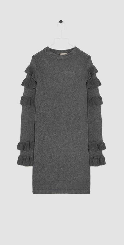Grey mini-dress