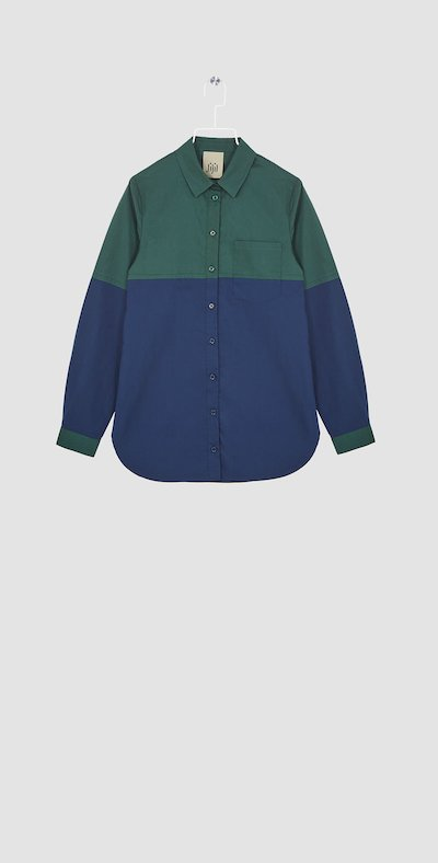Blue/forest shirt