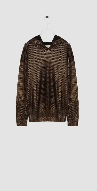 Bronze sweatshirt with hood